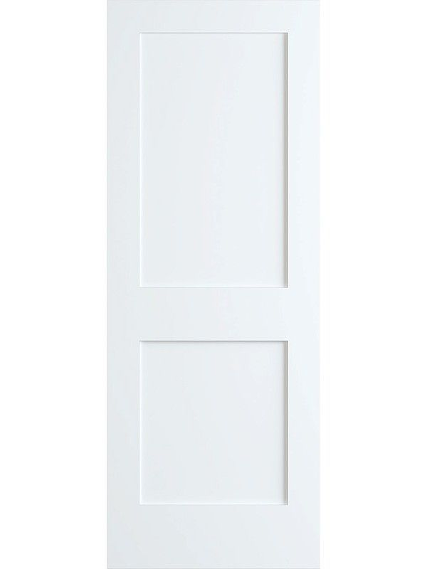 80 2 Panel Primed Shaker 1 3 8 Doors Interior Doors Interior Modern Shaker Style Interior Doors