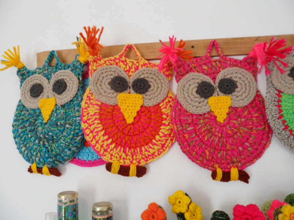 lechuzas mandala al crochet - Buscar con Google   Lechuzas ...