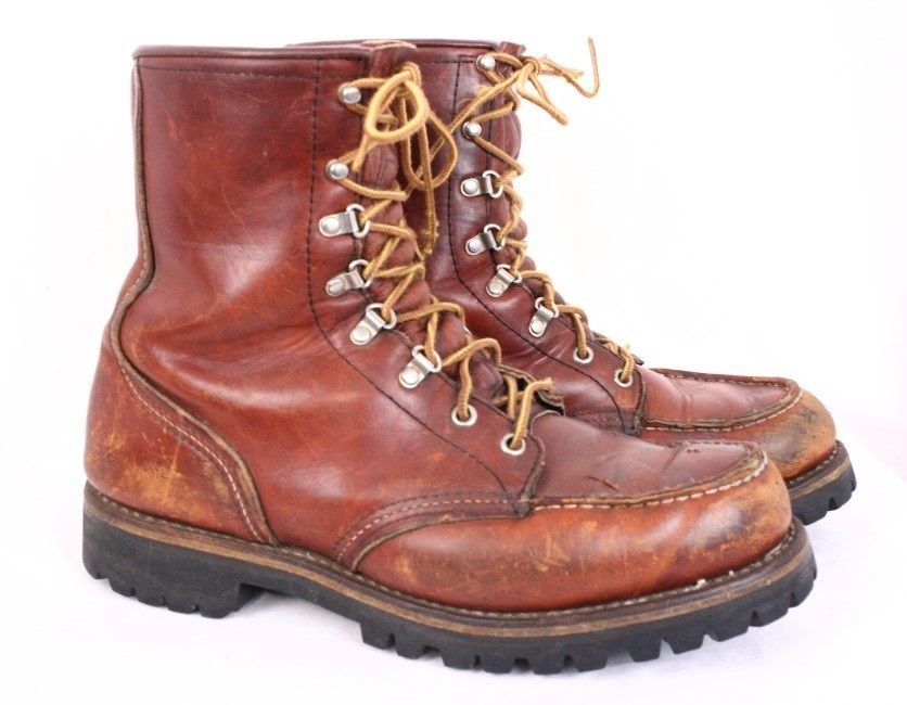 82e1bba3ebceb RED WING Irish Setter Vintage 80s Brown Leather Hunting Sport Lace ...