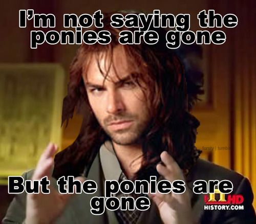 Funny Hobbit Quotes: Kili. Hobbit. I'm Not Saying The Ponies Are Gone...but The