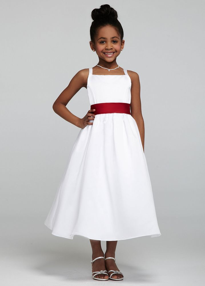 All-over Satin Tea-Length Ball Gown Style AI17010796