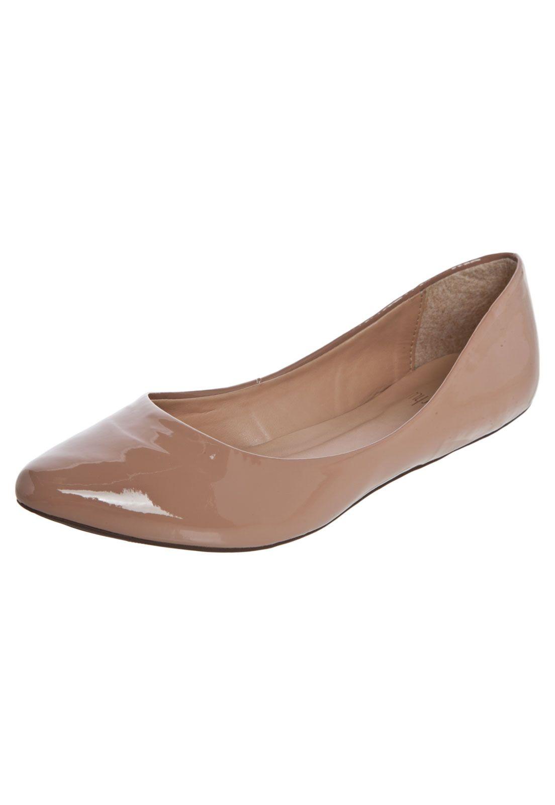 be795fffe2 Sapatilha My Shoes Básica Bico Fino Nude