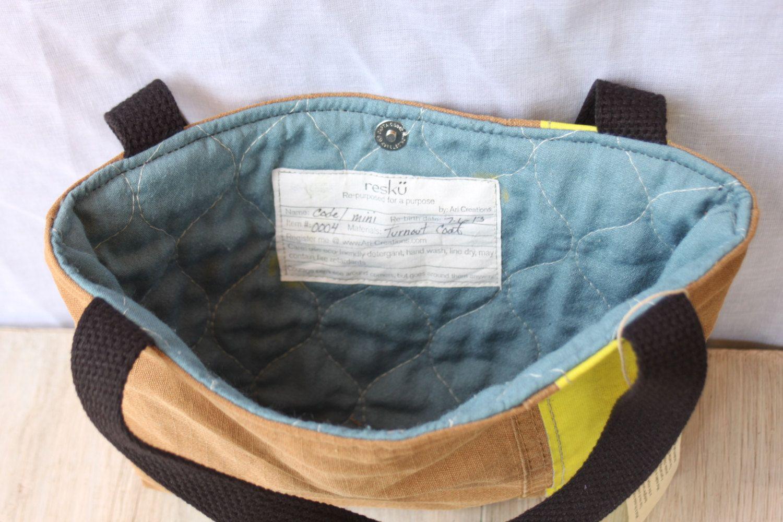 Recycled bunker gear bags - Recycled Fire Gear Handbag Mini Tote Bunker Gear Bag By Reskugear 47 00