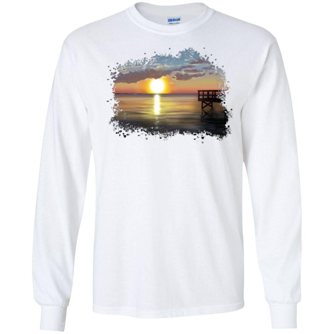 MBIT - Dock at Sunset * LS Ultra Cotton Tshirt