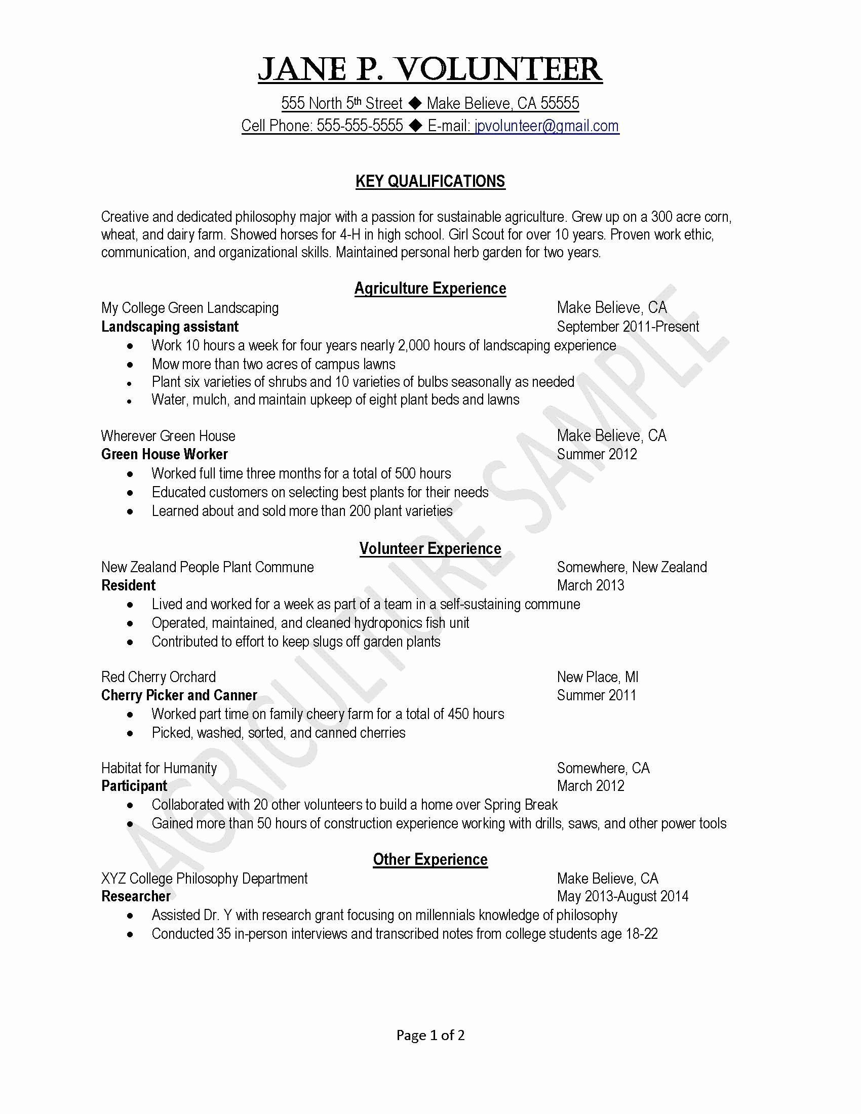 Volunteer Experience On Resume Example Elegant Resume Format Examples Karate Do Nrw De Resume Examples College Resume Template Cover Letter For Resume