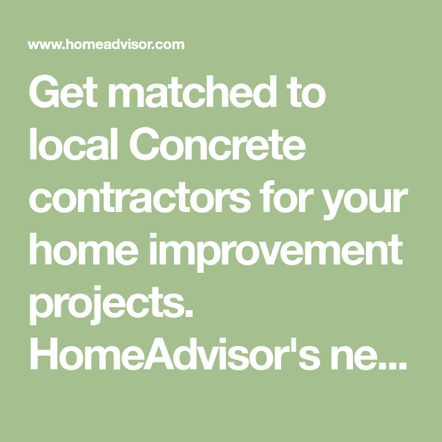 Get matched to local Concrete contractors for your home ...