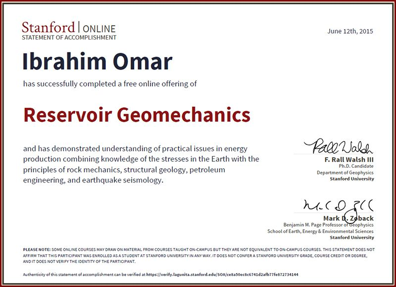 Reservoir Geomechanics Resgeo202 Stanford University By Dr Mark D