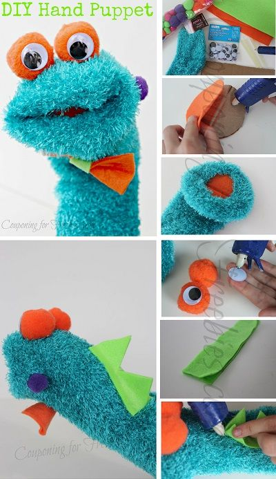 diy hand puppet cute and easy to make manualidades. Black Bedroom Furniture Sets. Home Design Ideas