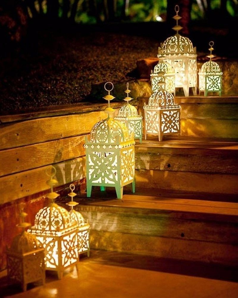 Amazing Diwali Decoration Ideas With Lanterns And Lamps Backyard Lighting Landscape Lighting Moroccan Garden