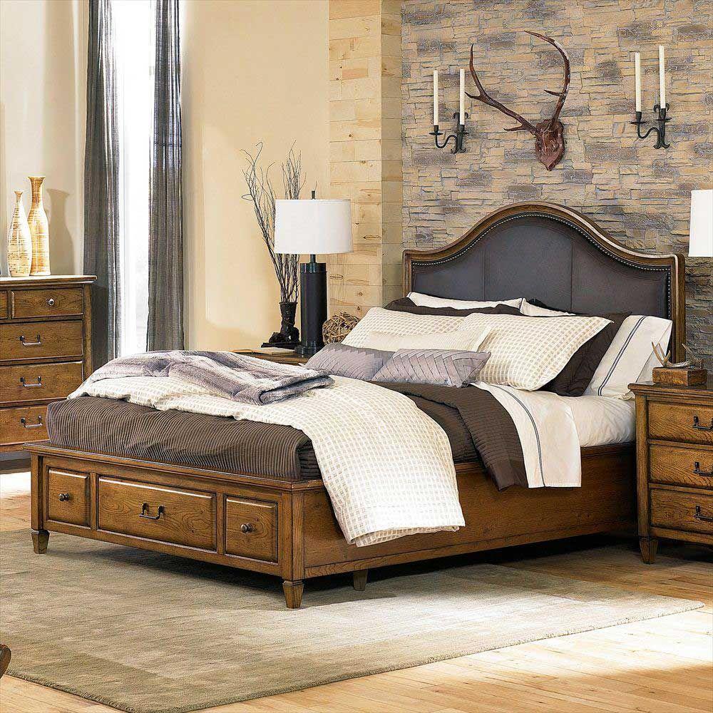 American Drew Americana Home Highland King Leather