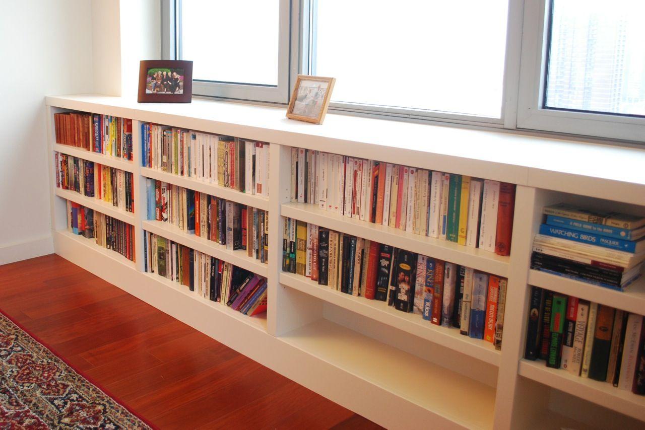 Built In Bookshelves Half Wall