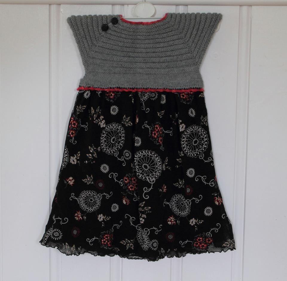Dale-kjole med strikket overdel