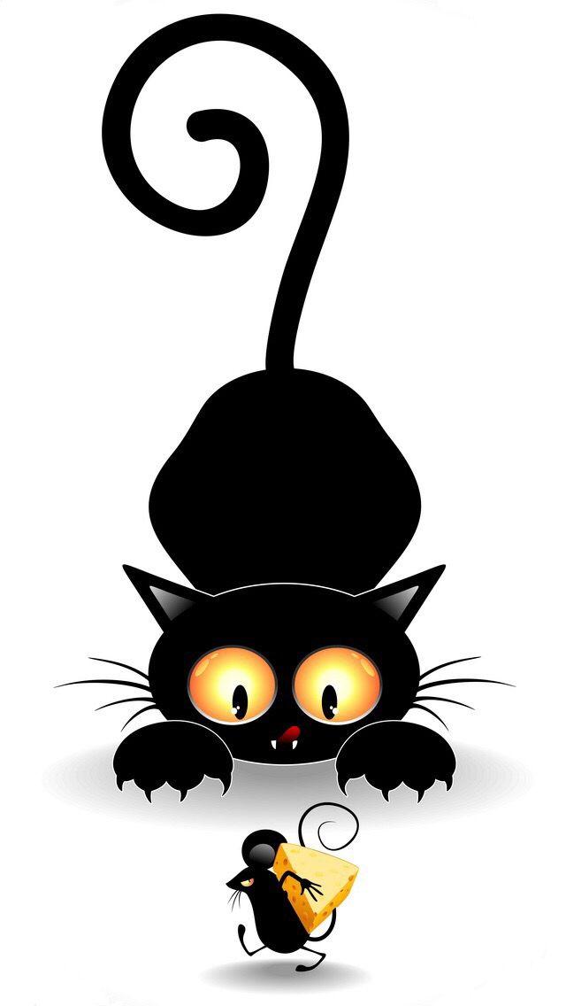 Wallp_5s   Cat cartoon images, Black cat art, Cartoon cat