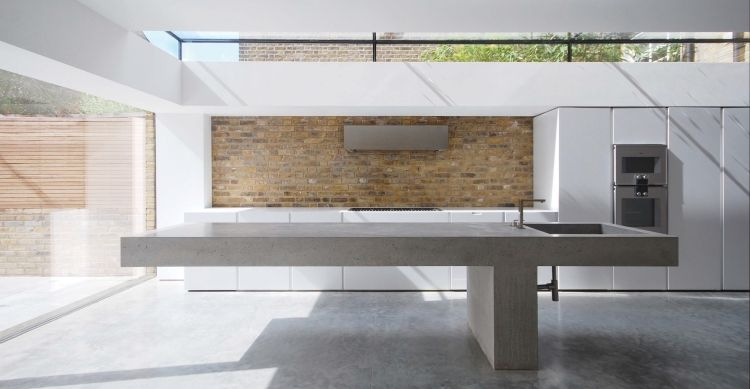 Arbeitsplatte aus Beton - 30 Ideen für neue Oberfläche in der - küchenarbeitsplatte aus beton