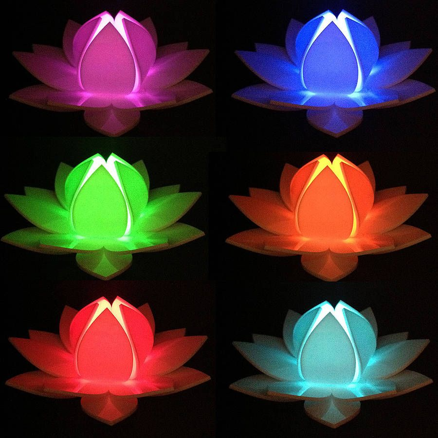 Lotus Flower Colour Changing Led Battery Operated Light Lighting