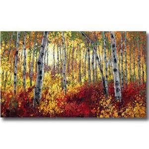 Aspen Paintings, Birch Tree Art, Contemporary Landscapes by Jennifer ...