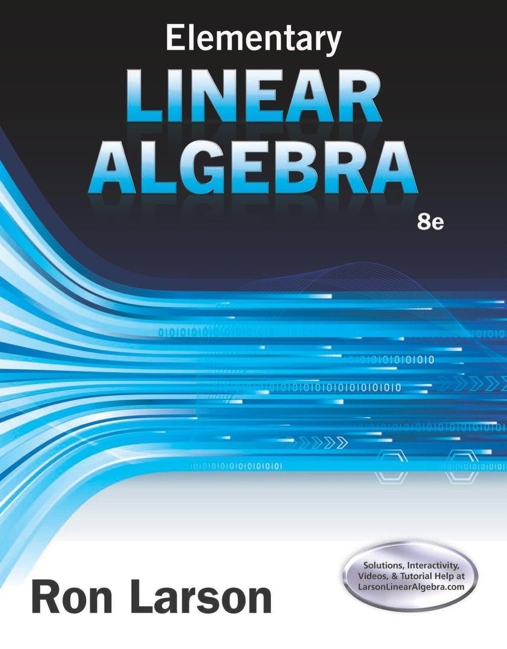 Elementary Linear Algebra (eBook Rental) | Products