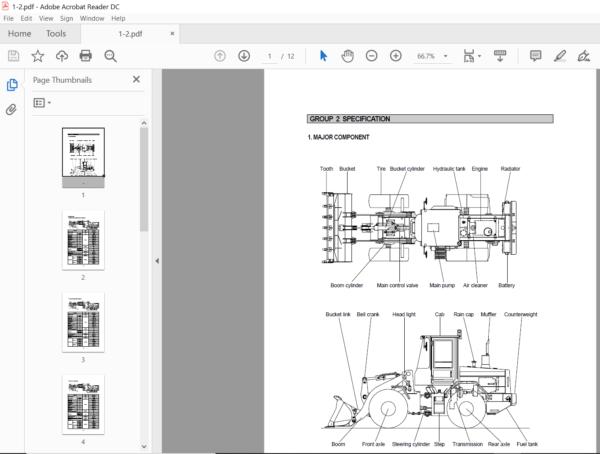 Hyundai Hl730 3 Wheel Loaders Service Manual Pdf Download Heydownloads Manual Downloads Hyundai Manual 3rd Wheel