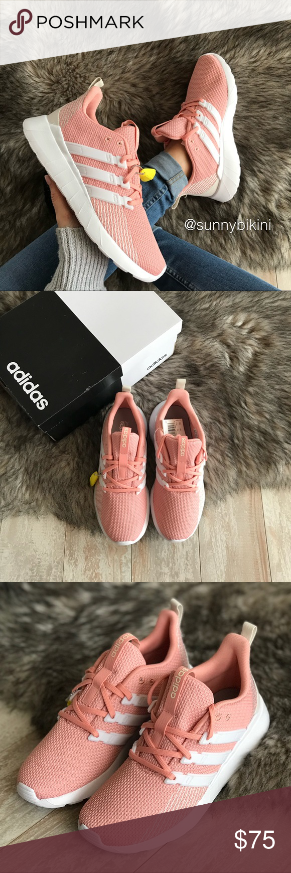 shoes, Pink adidas, Shoes sneakers adidas
