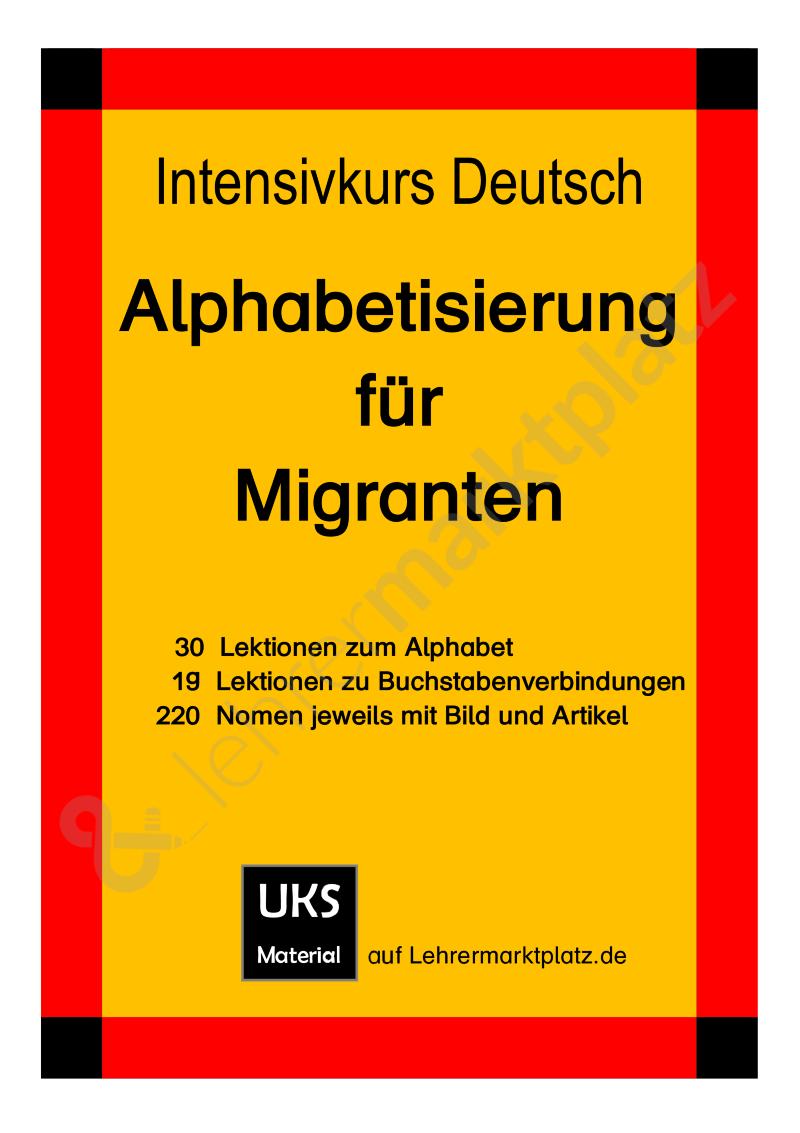 intensivkurs deutsch i alphabetisierung f r migranten buchstaben und w rter probeversion. Black Bedroom Furniture Sets. Home Design Ideas