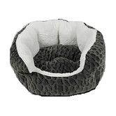 Found it at Wayfair - Textured Fleece Cuddler Dog Bed