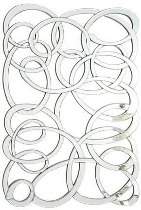 Swirl Frameless Wall Mirror Silver Walmart Com Modern Mirror Wall Silver Wall Mirror Home Design Decor