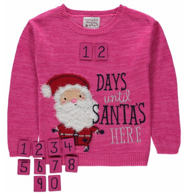 Childrens Santa Is Coming Father Christmas Kids Sweater \ Jumper