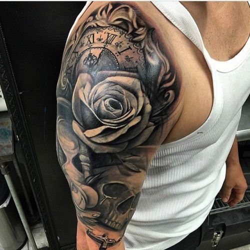 This Is The Useful Tattoo Boys Flowers Design Wallpaper: Sleeve Rosary Quarter Sleeve Tattoos Male Tattoo Sleeve