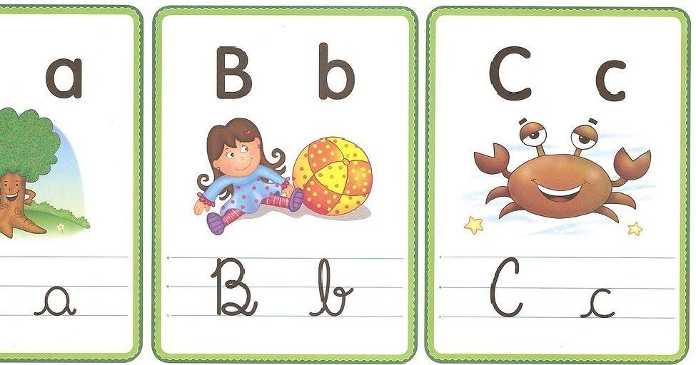 Alfabeto Ilustrado Com 4 Tipos De Letras Letras Para Imprimir