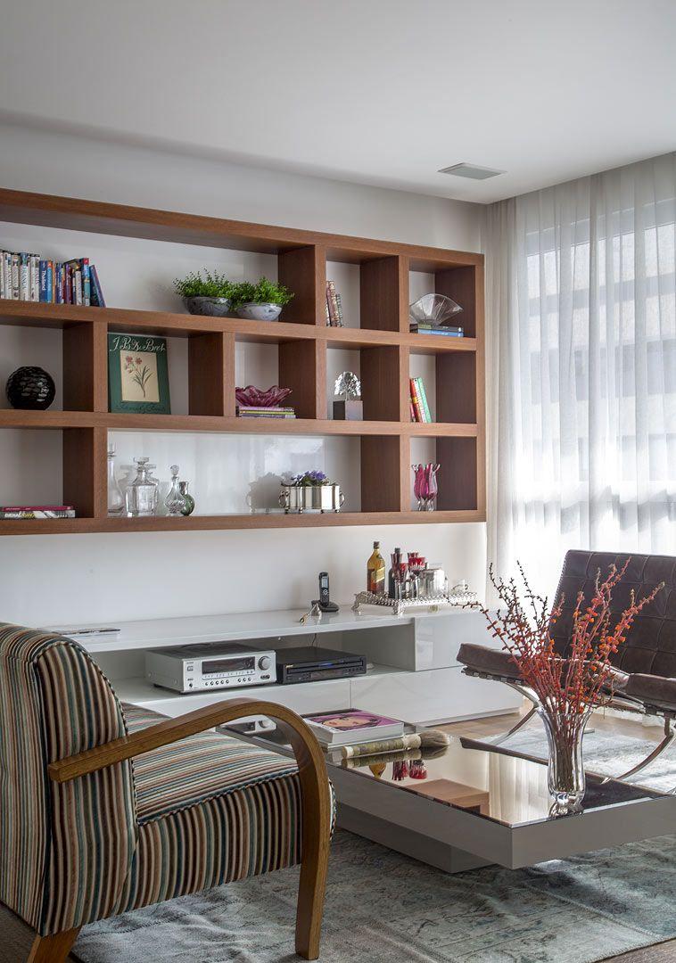 Apto | Leblon | Andrea Chicharo | living | Pinterest | Libreros ...
