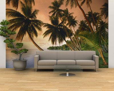 Ha I would love to have this tropical mural wall Around the