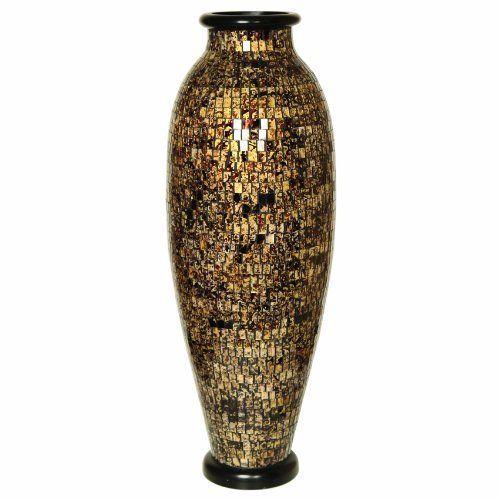Polivaz Dv Mos Ll M Goldbk Gold And Black Mosaic Floor Vase Urn By Polivaz Http Www Amazon Com Dp B0057zx89s Ref Cm Floor Vase Mosaic Flooring Black Mosaic