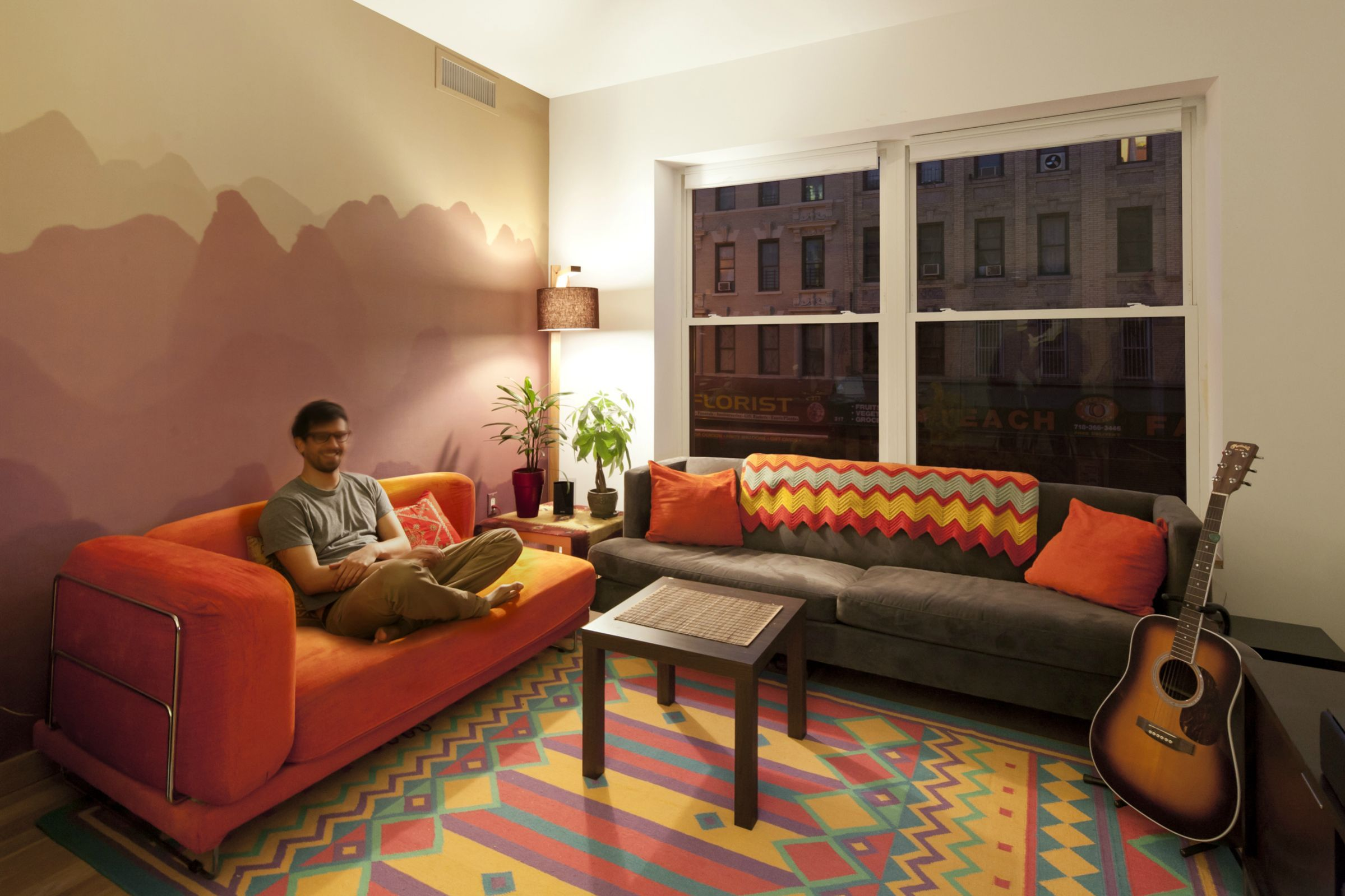 My apartment in Brooklyn, NY : malelivingspace - Sunset mountains ...