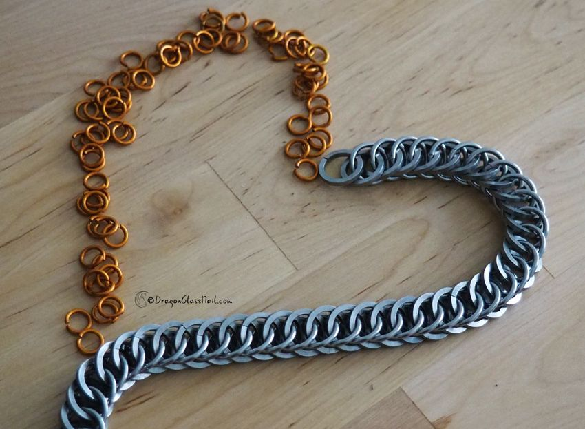 chain and rings heart #chainmaille