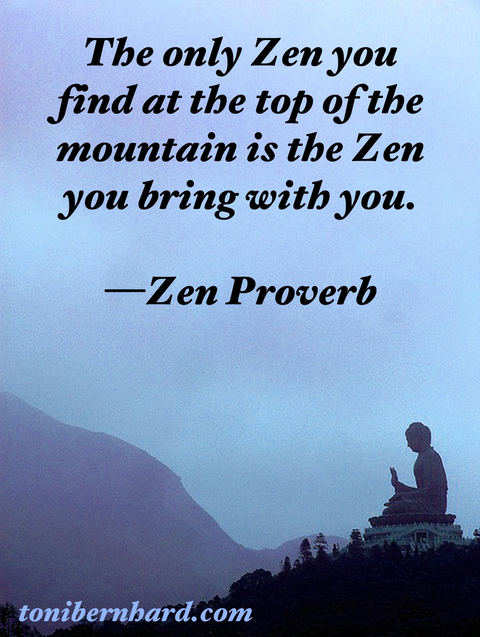 Zen Proverb Calming Effects Zen Quotes Zen Zen Proverbs
