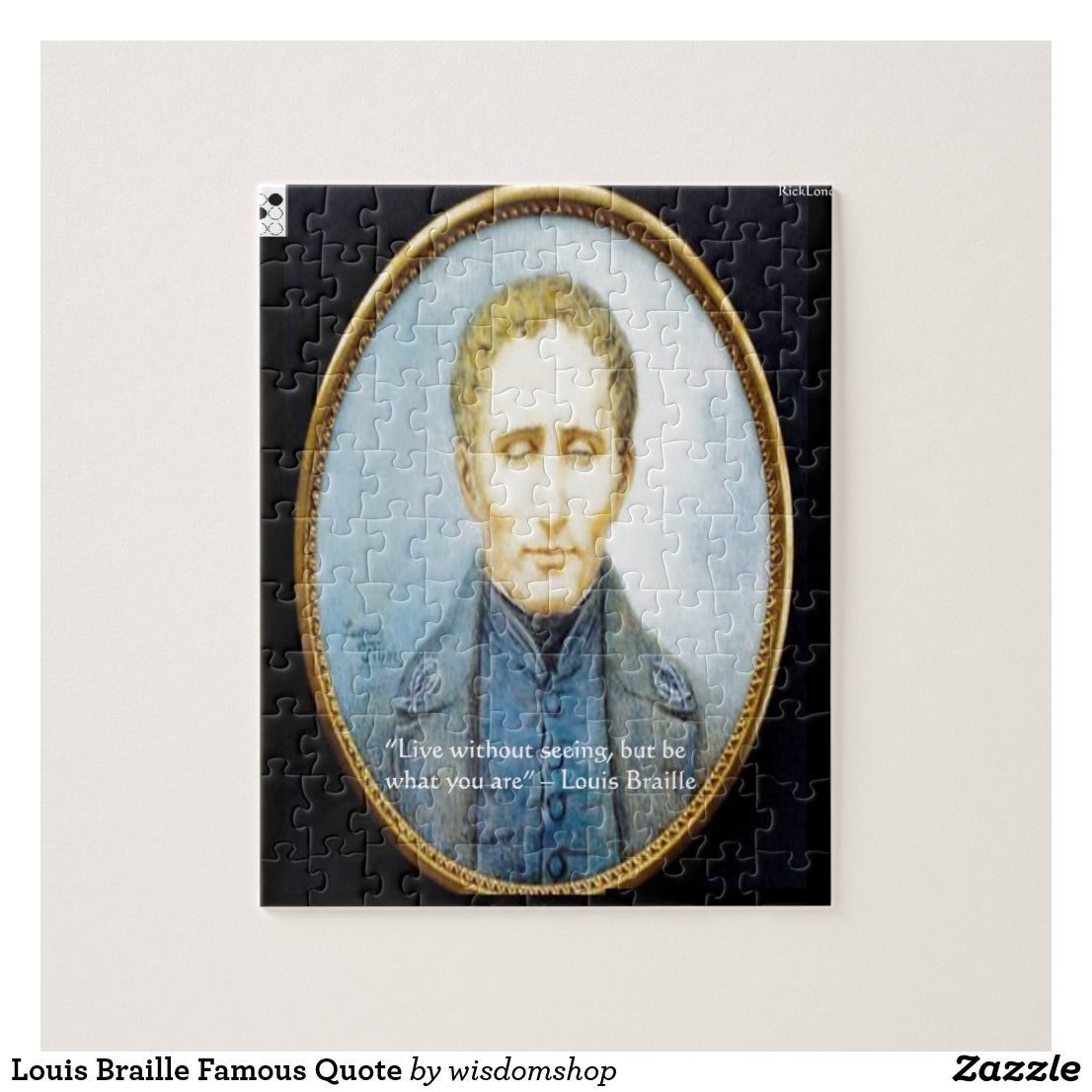 Louis Braille Famous Quote Jigsaw Puzzle In 2020 Famous Quotes