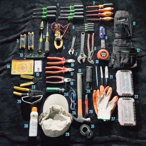 An Electrician S Bag Electrician Tool Bag Electrician Tools Electrical Tool Bags