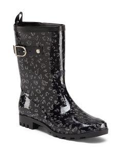 Leopard Printed Rain Boots