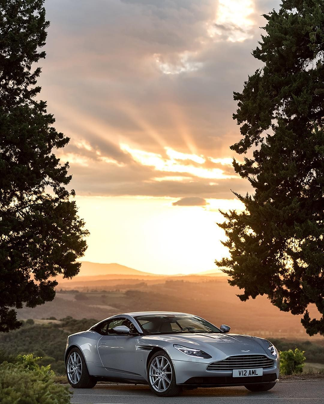 Perfection = A Beautiful Sunset And The DB11 #astonmartin