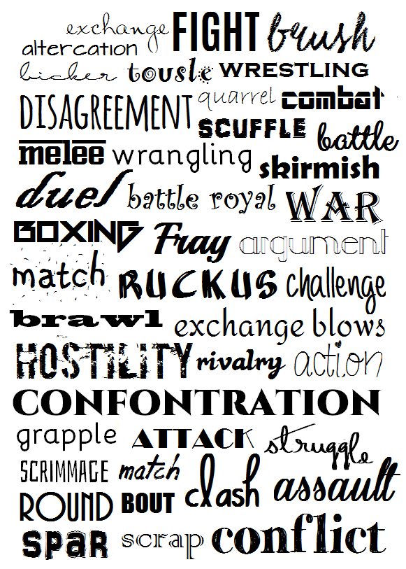 Synonyms For Fight Writing Words Words Fight