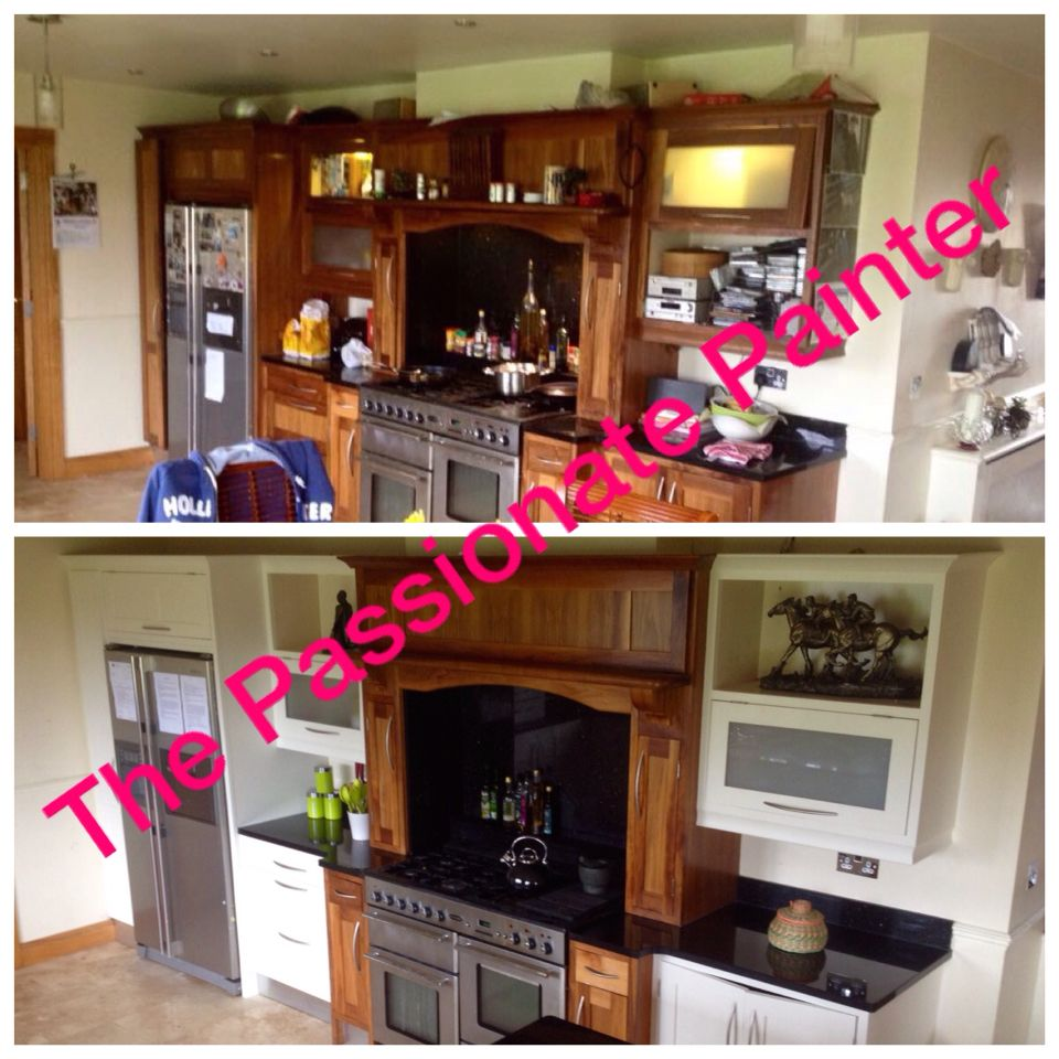 Eggshell Kitchen Cabinets Dark Walnut Kitchen Units Re Do In Colortrend Eggshell Bali Sand