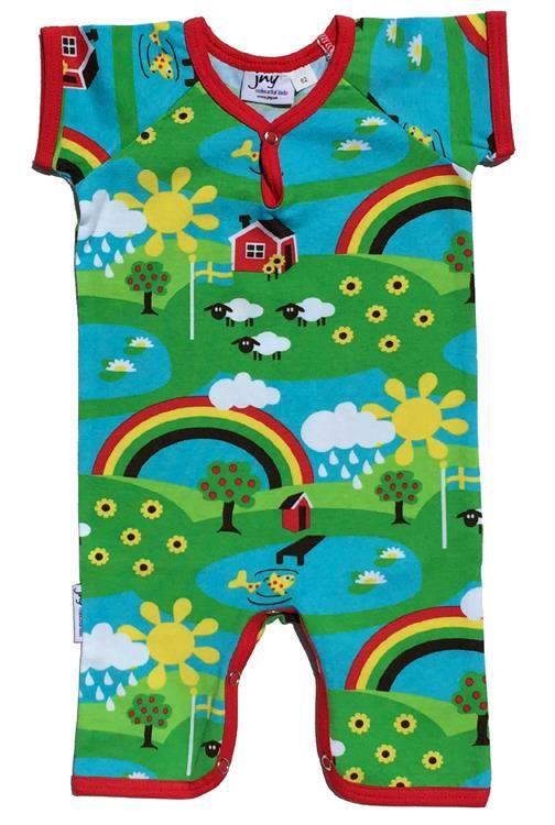 23ade957d JNY Organic summer suit - Rainbow summer print