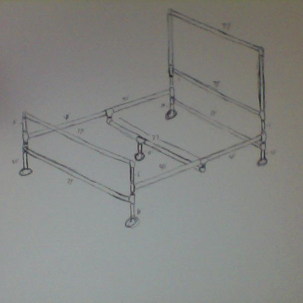 a soft industrial pipe bed frame