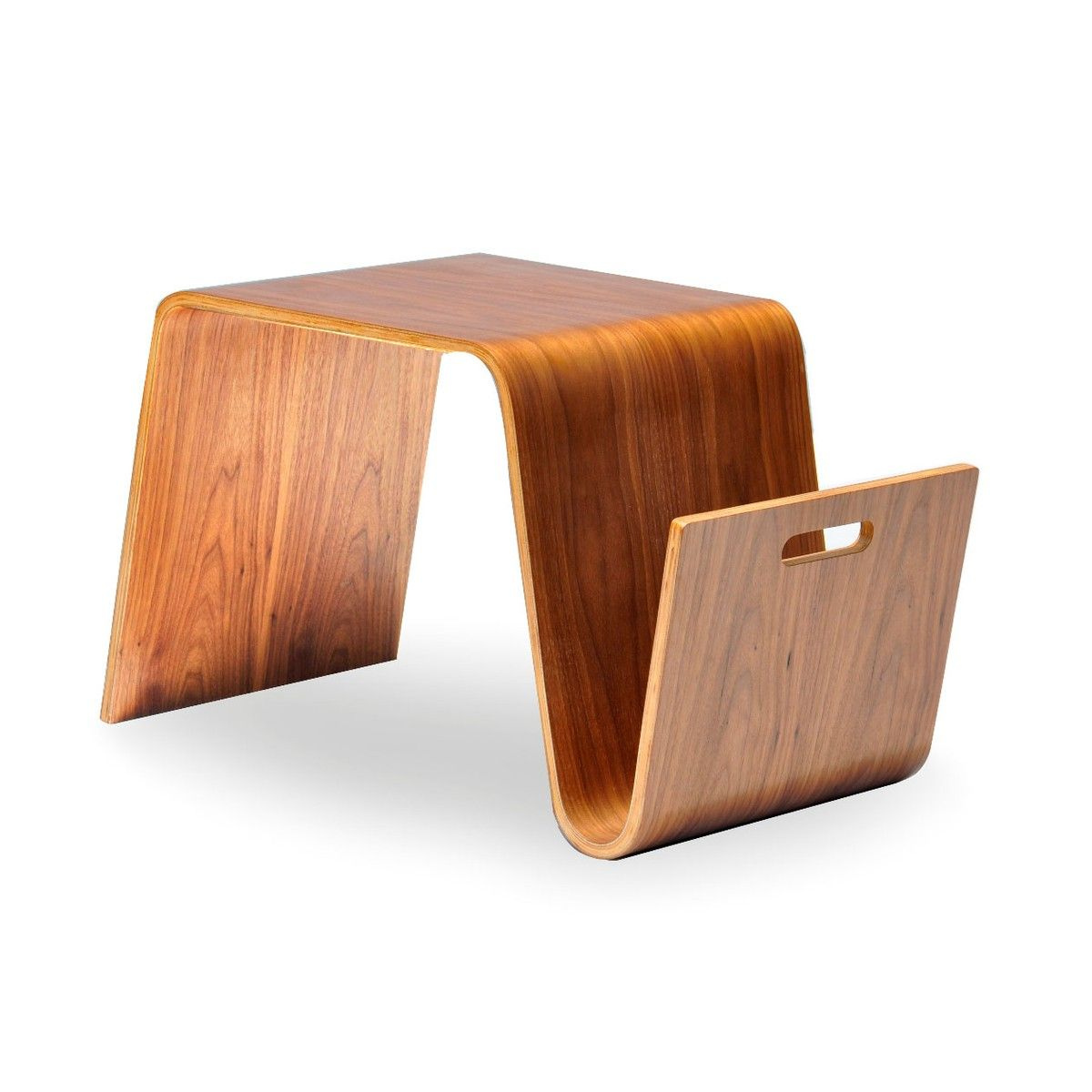 This Multi Functional Magazine Table Serves As A Table Or Stool