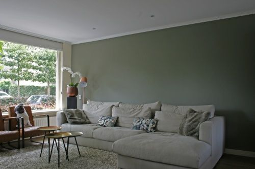 Interieurontwerp woonkamer by flow design puur natuur groen koper cognac - Interieurontwerp thuis kleur ...