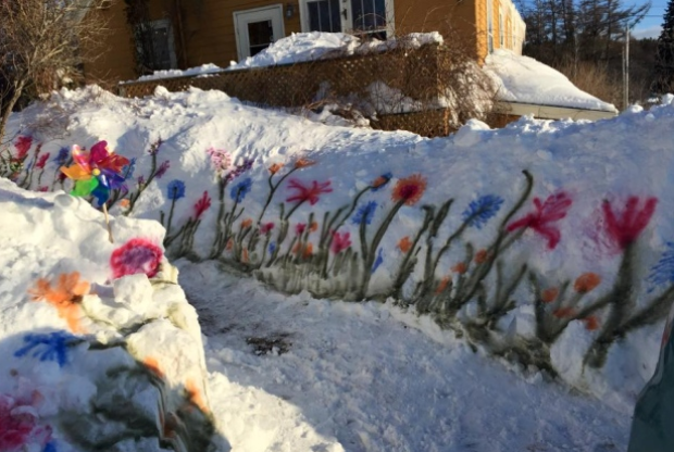 These May Be The Biggest Piles Of Snow In Canada Cbc News Flower Painting How Much Snow Painting Snow