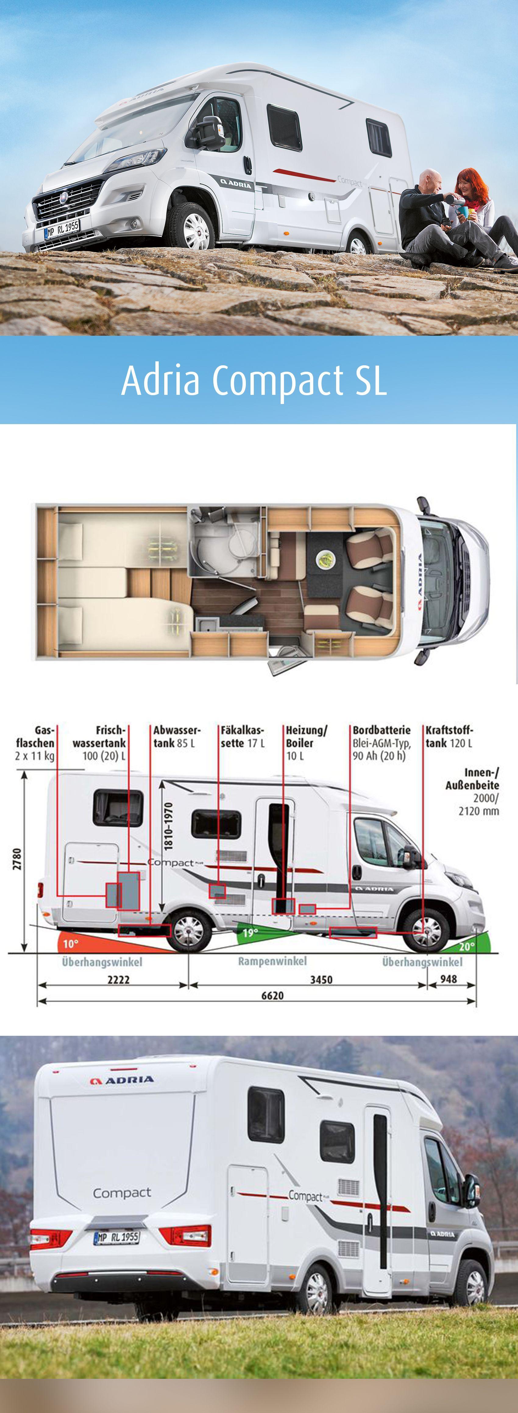 Adria Compact Sl Im Supercheck Camper Ideen Wohnmobil Grundrisse Und Kleines Wohnmobil