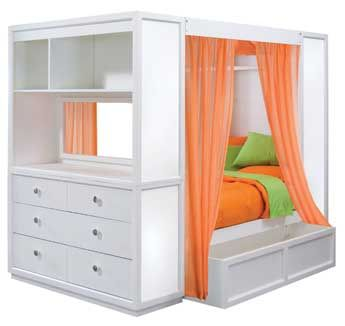 Lea Contemporary Children Bedroom Sets with Full Size Bed ...