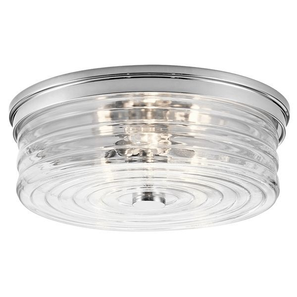Shop kichler lighting kichler 12 52 in w chrome standard flush mount light at lowes canada find our selection of flush mount ceiling lights at th