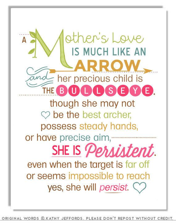 Mothers Love Is Like An Arrow A Typographic Print For Mom Sentimental Day Gift Poem Art Poetry Mum Birthday 1800 Via Etsy
